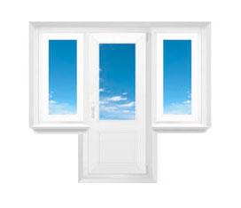 Балконный блок с несколькими окнами