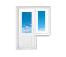 Балконный блок, окно справа