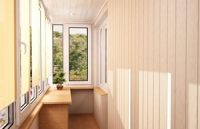 Отделка лоджии и балкона вагонкой