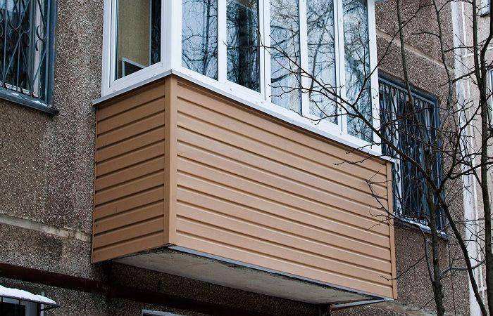 Внешняя отделка балконов или лоджий