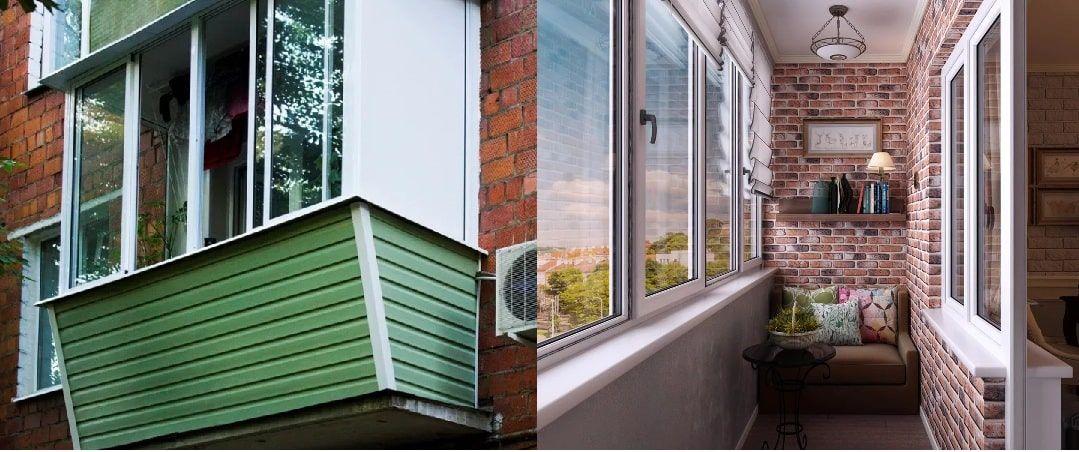 Отделка балконов и лоджий в Лобне