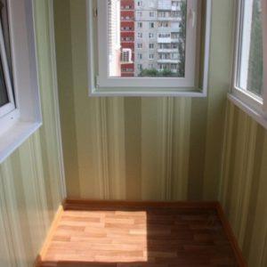 Отделка лоджии и балкона ПВХ панелями