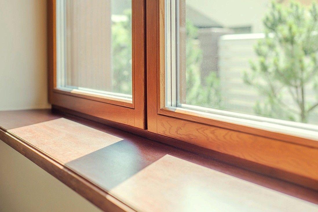 пластиковые окна деревянные подоконники фото связано тем