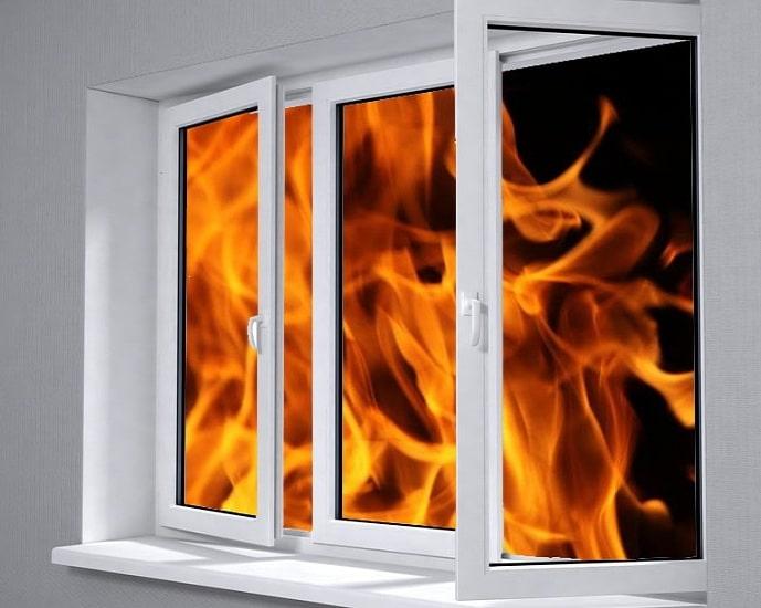 Пластиковые окна при пожаре