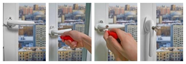 Регулировка балконной ручки