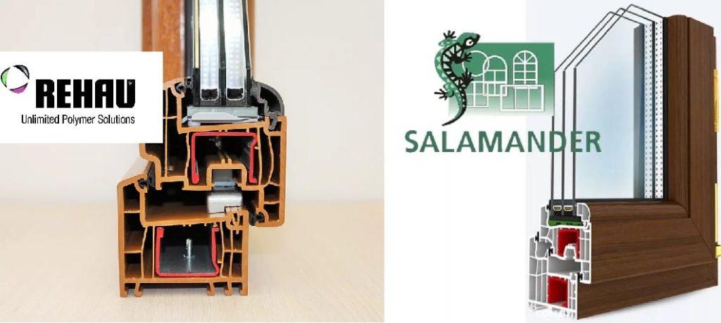 Профили Rehau и Salamander