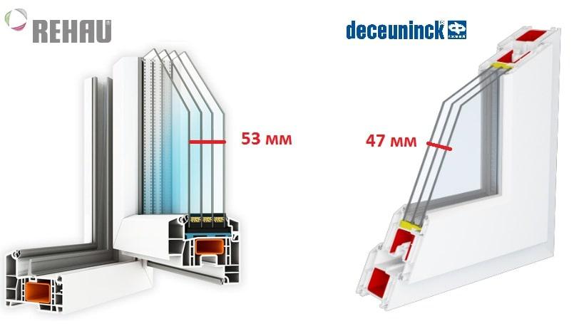 Сравнение Рехау и Декенинк