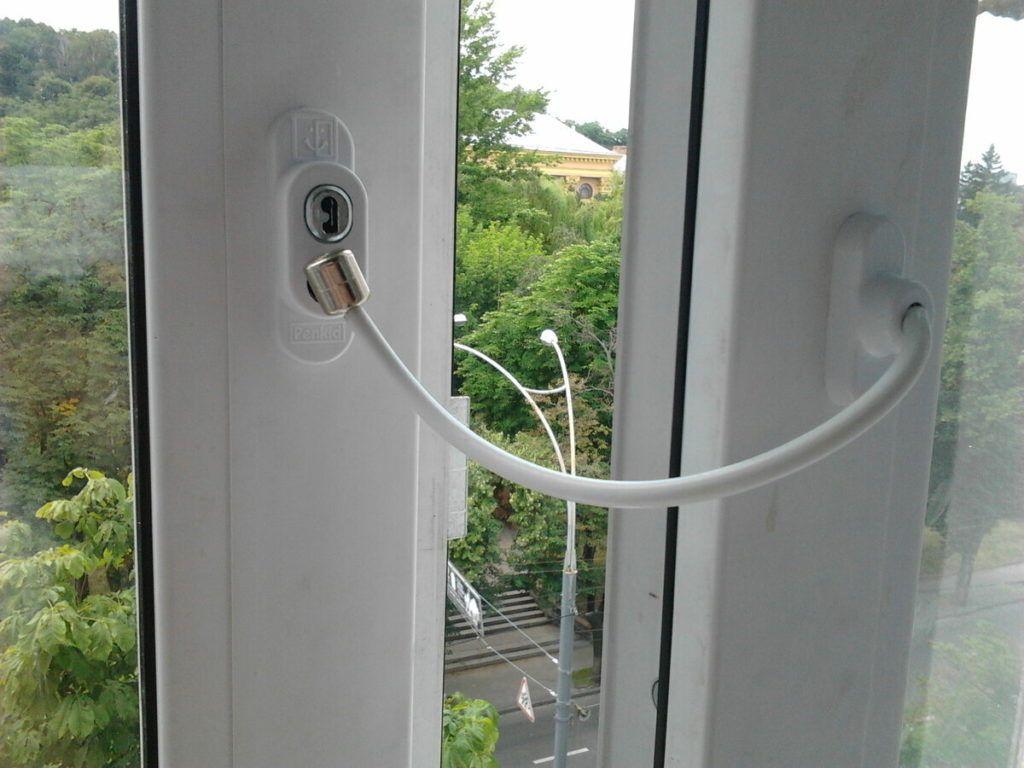 Тросовый блокиратор открывания окна