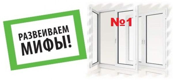 Миф про окна зимой №1