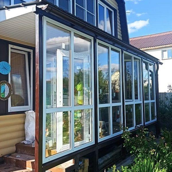 Остекление дачи пластиковыми окнами