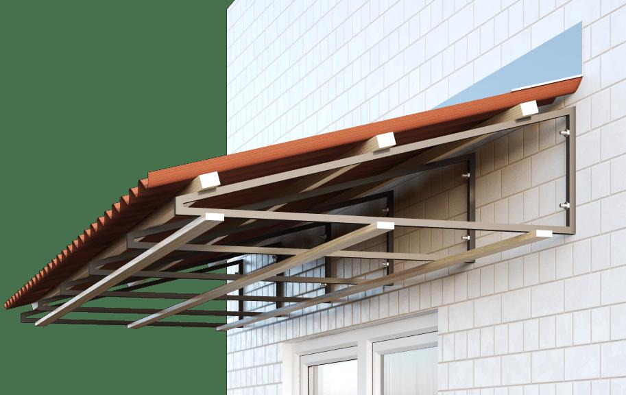 Односкатная крыша балконов