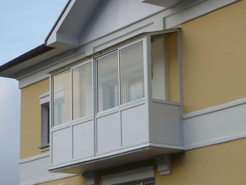 Зависимая крыша на балкон