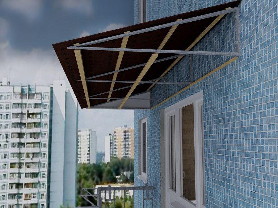 Независимая крыша на балкон