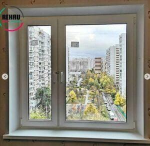 Замена двухстворчатого окна