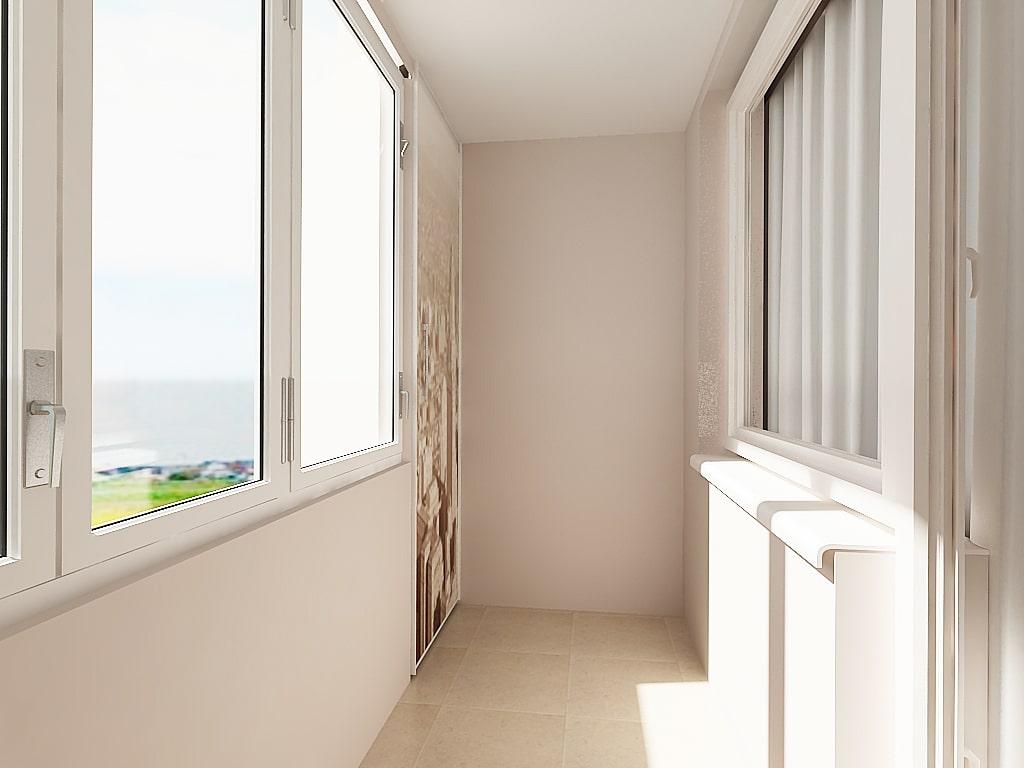 Отделка балкона 9-10 кв. м