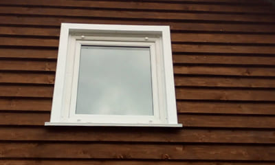 Глухое пвх окно